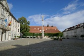 Eichstätt - Residenzplatz mit Mariensäule