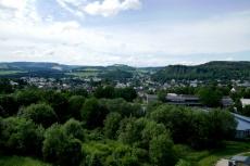 Vulkan-Pfad von Steffeln nach Gerolstein - Blick über Gerolstein