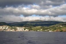 Blick zurück auf Faial