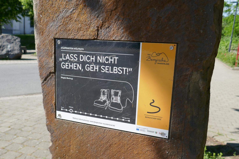 Bergischer Weg – Etappenstein Wülfrath