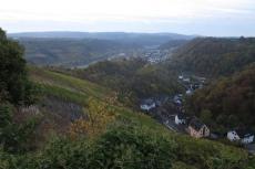 30. Int. Rhein-Mosel-Marathon - Blick von der Oberburg auf Kobern-Gondorf