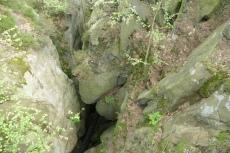 Malerweg #2 - Blick in die Wolfsschlucht (unten geht der Weg weiter)