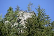 Malerweg #3 - Blick aus dem Polenztal hoch zum Hockstein