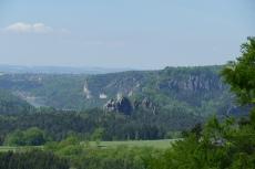 Malerweg #3 - Blick zurück auf die Bastei und Wehlen
