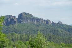 Malerweg #3 - Die Schrammsteine von Altendorf gesehen