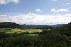 Felsenland Sagenweg - Blick von Burg Drachenfels