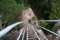 Felsenland Sagenweg - Leiter zum Pfaffenfels