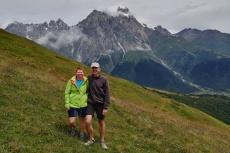 Georgien - Wanderung über den Baki-Pass, vor dem Uschba (4737m)