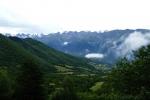 Georgien - Wanderung über den Baki-Pass, Blick auf die Lajla-Kette