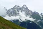 Georgien - Wanderung über den Baki-Pass, Blick auf den Uschba (4737m)