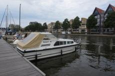 Mit dem Hausboot durch Friesland - Hafen von Sneek