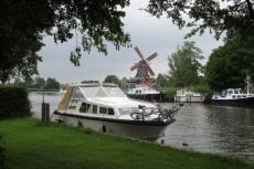 Mit dem Hausboot durch Friesland - Liegeplatz in Ijlst