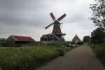 Mit dem Hausboot durch Friesland - Ijlst - Windmühle