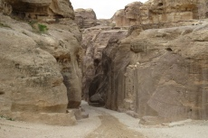 Jordanien – Petra, am Eingang des Siq