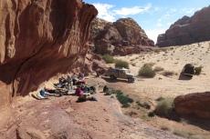 Jordanien – Mittagspause im Wadi Rum