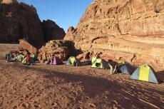 Jordanien – unser Camp im Wadi Rum