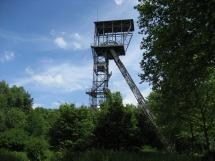 Abseilen vom Förderturm der Zeche Teutoburgia