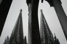 Haupttürme vom Vierungsturm aus gesehen