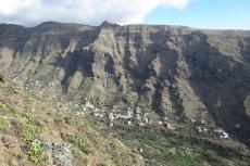 La Gomera: Unser Wandergebiet von den anderen Talseite