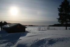 Lapplands Drag – Husky Expedition: Fahle Sonne am Morgen