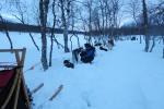Lapplands Drag – Husky Expedition: Nachtlager an der Mankeforshütte