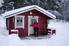 Lapplands Drag: Unsere Hütte