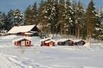 Lapplands Drag: Gästehütten vor dem Haupthaus
