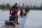 Lapplands Drag: Unser Treck beim Fotostopp