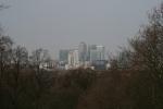 Canary Wharf von Greenwich gesehen