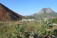 Lykien - Blick vom Hotel zur Landseite