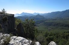 Lykien - Aussicht von den Ruinen von Laodikeia