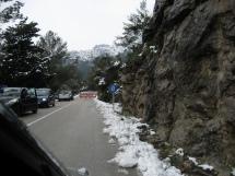 Mallorca - Straßensperre