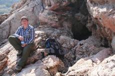 Mallorca - Am Einstieg in die Höhle