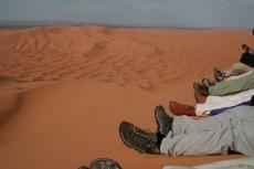 Marokko: Pause auf dem Dünenkamm