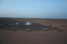 Marokko: Unser Camp in der Dämmerung