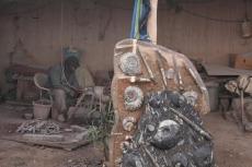 Marokko: Bearbeitung der Fossilien