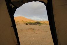 Marokko: Blick aus dem Zelt