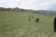 Mongolei: Unsere Gruppe im Terelj-Nationalpark