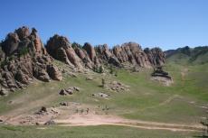 Mongolei: Unsere Gruppe während der Wanderung