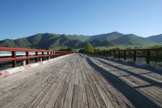 Mongolei: Alte Straßenbrücke