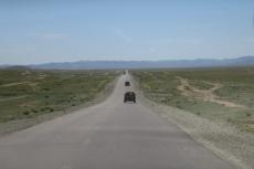 Mongolei: DAS ist eine Gerade...