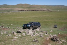 Mongolei: Schwieriges Gelände