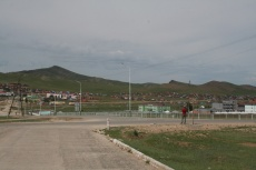Mongolei: Khujirt, eine typische Kreisstadt