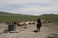 Mongolei: Tiefbrunnen