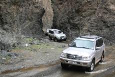 Mongolei: Enge 'Straße' ins Altai-Gebirge