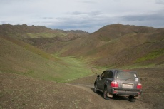 Mongolei: Passhöhe im Altai (2400m)
