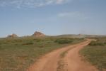 Mongolei: Hauptstraße in die Khogno-Khan-Berge