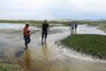 Mongolei: Erfrischendes Fußbad