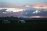Mongolei: Sonnenuntergang im Orkhon-Tal