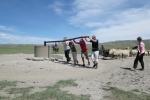 Mongolei: Tiefbrunnen mit menschlichem Antrieb